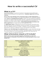 Successful Cv Layout How To Write A Successful Cv Docsity