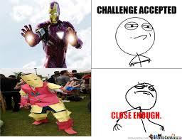 Iron Man Challenge by jellybabies-lol - Meme Center via Relatably.com