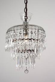 petite antique three tier crystal chandelier with glass prisms for amazing residence antique mini chandelier remodel