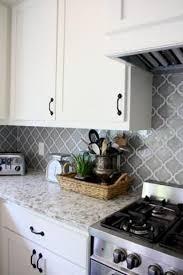 white kitchen grey backsplash. Interesting Grey Gray And White Kitchen Farmhouse Arabesque Tile Backsplash  Operation Pretty House  Kitchen Pinterest Kitchen Backsplash Home Intended White Grey Backsplash I