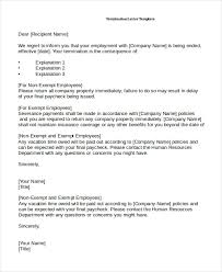 employee termination form template 10 employee termination letter templates doc pdf ai free