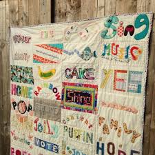 Stitch Gathering Words Quilt #1 • myBearpaw Blog by Jo Avery & Our amazing retreaters brought along fabulous works of art using so many  different techniques! They were all displayed on the day. Adamdwight.com