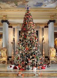 Whitehall's first floor is decorated in traditional Gilded Age splendor  through Christmas Day each year. The focal point is a 16-foot tall Christmas  Tree in ...