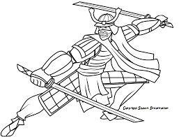 Samurai 11 Characters Printable Coloring Pages