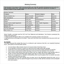 Meeting Summary Sample Meeting Summary Template Example Discussion Sample Jagraj Co