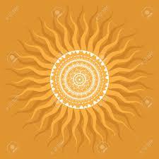 Sun Pattern Fascinating Mandala Sun Indian Decorative Pattern Royalty Free Cliparts Vectors