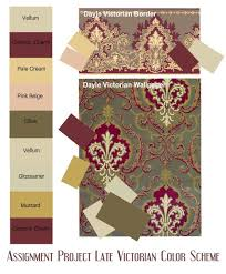 victorian color schemes interior | Assignment Late Victorian Color Scheme -  SampleBoard