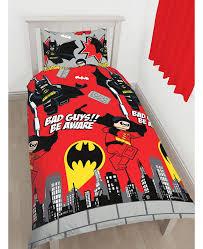 lego dc superheroes batman kapow single duvet cover set rotary design