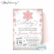 Snowflake Baby Shower Invitations Baby Its Cold Outside Invitation Winter Baby By Afterfebruary