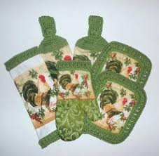 kitchen towel sets rooster kitchen set green kitchen decor hanging towels pot holders dish cloth kitchen towel sets