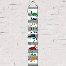 Amazon Height Chart Amazon Com Dinosaur Birth Information Canvas Growth Chart