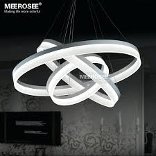 led chandeliers lighting modern chandelier lamp ring new design light indoor acrylic lights in from on