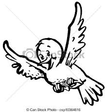 birds flying black and white clipart.  Birds A Black And White Version Of A Happy Looking Bird Flying On Birds Flying Black And White Clipart L