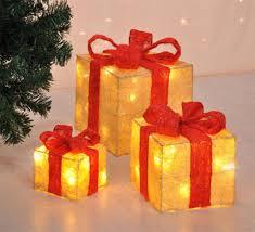 3er Set Geschenke Led Timer Beleuchtete Geschenkbox Real