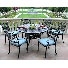 round patio dining table sets meadow decor 7 piece set to with fire pit