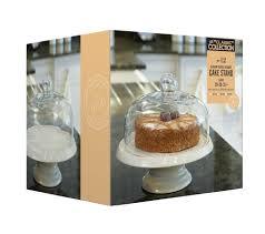 kitchen craft classic collection ceramic cake stand with glass white cake stand with glass dome classic ceramic