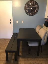 black kitchen dining table bench and two chairs not sold separately no offers for in lakewood ca offerup