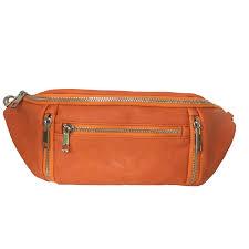 orange cross waist bag