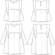 Paper Pattern Mesmerizing Stella Duo Blouse Dress Girl 4848 Paper Sewing Pattern Ikatee