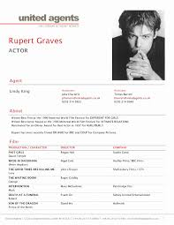 Resume For Actors Best Of Actors Resume Format Awesome Actor Resume
