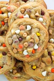white chocolate reese s pieces peanut er chip cookies