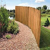 Slatted Bamboo Garden Privacy Screen