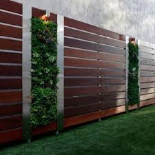 fence design. Infuse Your Wooden Fence With Greenery Parts Achieving A Living Wall Design O