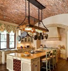 Kitchen Pan Storage Pot And Pan Rack Kitchen Farmhouse With Beadboard Ceiling Built In