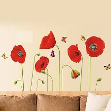 red poppy flowers wall stickers flowers poppy wall stickers poppy wall stickers on poppy wall art stickers with this is why poppy wall stickers is so small home ideas