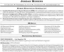 Sample Resume Hr Generalist 4 Sample Resume For Hr Generalist In