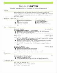 Online One Page Resume Template Unique Windows Resume Templates