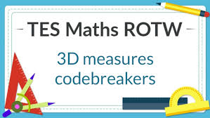 volume and surface area codebreakers tes maths resource of the week