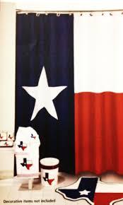 Texas Star Bathroom Accessories Amazoncom Texas Flag Lone Star Fabric Shower Curtain Home Kitchen