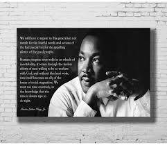 G 556 Martin Luther King Jr Quote Motivation Fabric Home Decoration Art Poster Wall Canvas 12x18 20x30 24x36inch Print