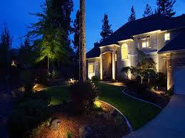 image of landscape lighting installation