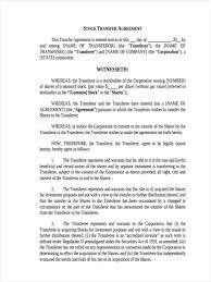 Share Transfer Agreement Template Elegant 42 Sample Transfer Forms