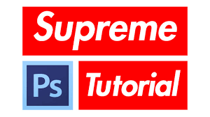 How To Supreme Box Logo In Photoshop Youtube
