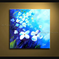 contemporary wall art fl painting white flower paintings