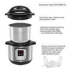 Nồi áp suất điện đa năng Instant Pot 8Lit, cài đặt sẵn 14 chương trình nấu  tự động hoàn toàn, xách tay Mỹ