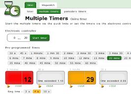 Online Timer 15 Minutes 8 Online Multiple Timer Free Websites