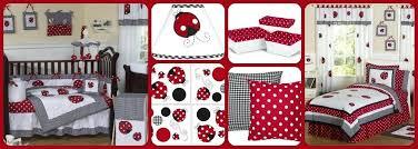 polka dot crib bedding ladybug red and white polka dot baby and bedding sets minnie mouse