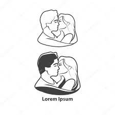 Kiss Logo Forum Couple Stock Vector Evgenybornyakov 99069264
