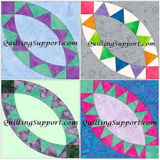 Pattern Block Template Amazing Pickle Dish Set Of 44 Wedding Ring Template Quilting Block Etsy
