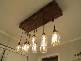 mason jar bathroom light fixture my husband is a genius when it for mason jar dining room light