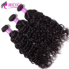 Weave Inches Chart Brazilian Water Wave Hair Virgin Human Hair Weave 4 Bundles With Lace Frontal