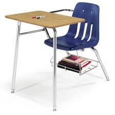school desk. Compare Virco 9400 Chair Desk Combo With Bookrack, C70120 School O