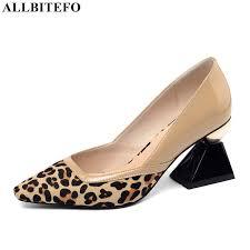 ALLBITEFO fashion brand Horse hair <b>high</b> heels women shoes <b>high</b> ...