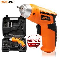 philippines oneline dc tools new best quality cordless mini portable electric driver drill 45pcs tool kit