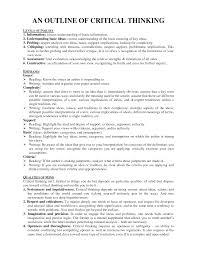 Critical Analysis Essay Example Paper Critical Thinking Essay Sample Rome Fontanacountryinn Com