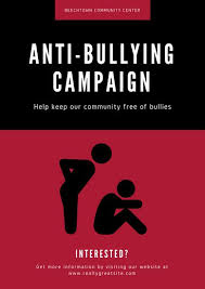 campaign poster templates free red and black people anti bullying poster templates by canva